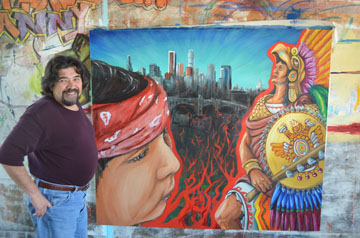Carlos Callejo with current work in progress